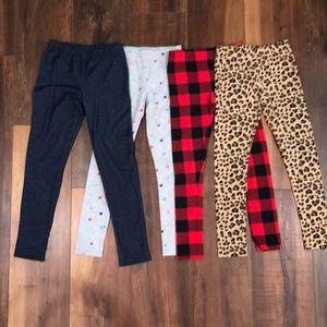 Bundle of 4 size 7 Carter's leggings